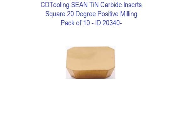 SEAN 20 Degree positive Milling Carbide Inserts - 10 Pack ID 20340-