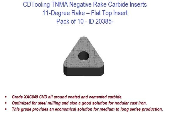 Pack of 10 RISHET TOOLS 10516 DCMT 32.52 C5 Multi Layer TiN Coated Solid Carbide Inserts