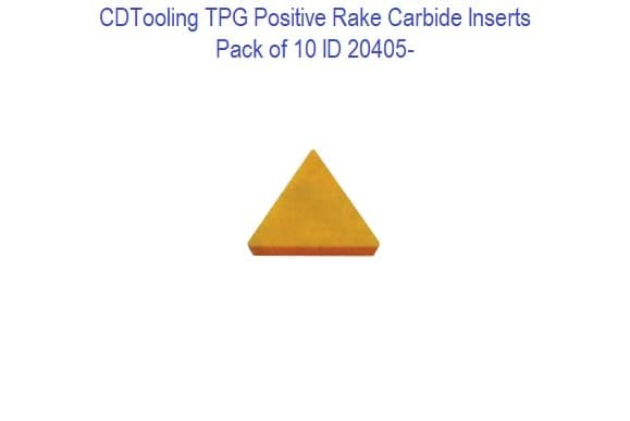 TPG - Positive Rake Carbide Inserts - 10 Pack ID 20405-