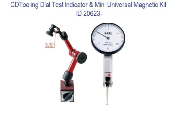 Dial Test Indicator and Mini Universal Magnetic Base Kit ID 20623-