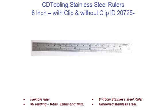 6 Inch Stainless Steel Rulers ID 20725-