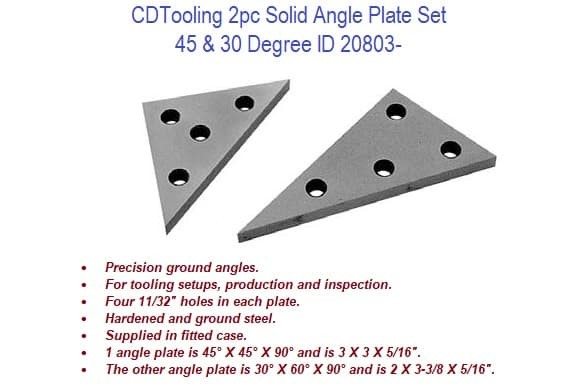 2pc Solid Angle Plate Set ID 20803-