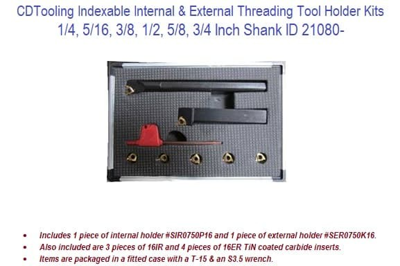Internal Thread Indexable Threading Toolholder 1.9685 Inch Shank Width 13.7795 Inch Overall Length Through Coolant Left Hand Holder Insert Compatibility 27NL