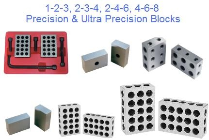 1-2-3, 2-3-4, 2-4-6, 4-6-8 Blocks Precision and Ultra Precision