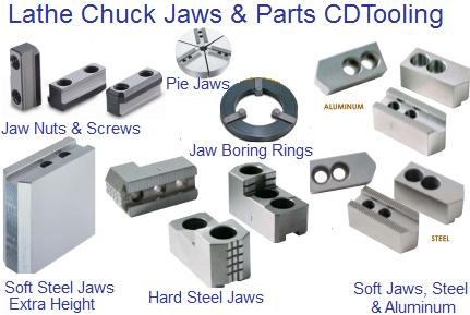 3900-4782 3 PIECE JAW T-NUT SET FOR 8 B-200 CHUCK