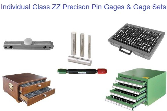 High Precision Individual Pin Gages and Pin Gage Sets ID 1094-