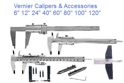 4,6,8,12,20,24,36,48,60,80,100,120 Inch,Metric Length Vernier Calipers Section