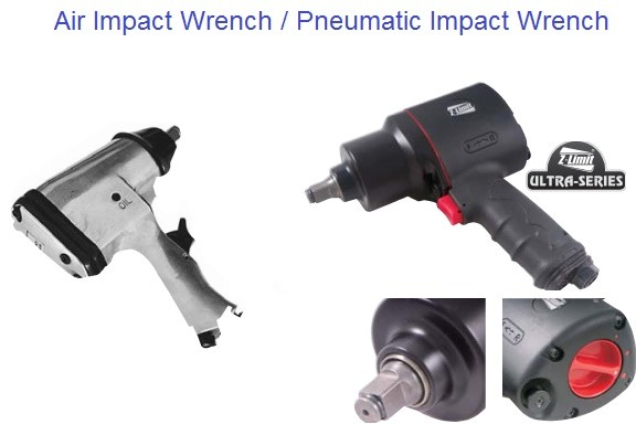 Air Impact Wrench, Pneumatic Impact Wrench 1/2 Drive Regular and Z limit Ultra Series