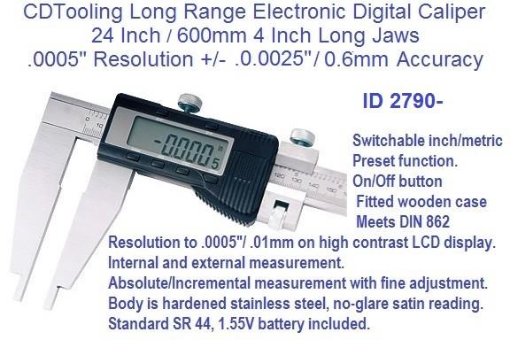 "40/""//1000mm  ELECTRONIC DIGITAL CALIPER heavy duty long jaw-X-LARGE SCREEN"
