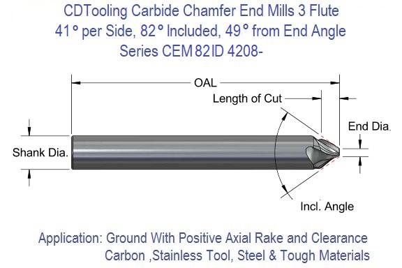 3//8 2 Flute 82 Degree Carbide Chamfer Mill