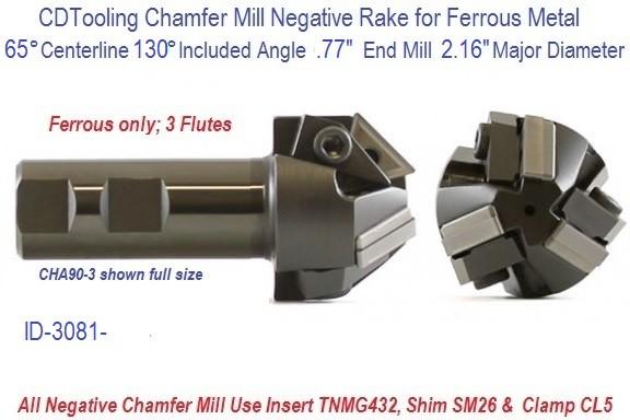 Carbide AlTiN 1//8 Cutting Diameter 0.130 Cutting Length KYOCERA CM-050L130 Single Angle Chamfer Mill 50 Degree Angle 1-1//2 Length 2 Flutes 1//8 Shank Diameter