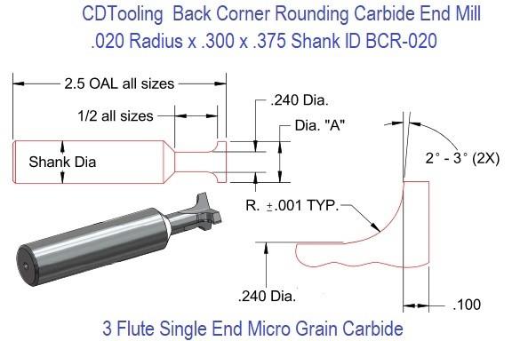 64 mm Full Length R 0.3 mm Dormer S5238.0XR0.3 Shank Corner Radius End Mill 8 mm Head Diameter 20 mm Flute Length HM TiSiN Coating