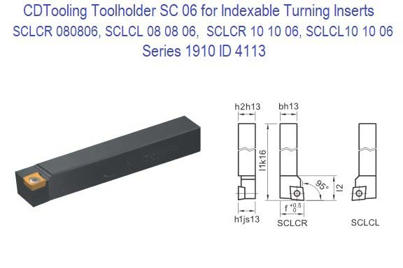 SCLCR-, 121209, 161609,  Toolholder for CCFT 09T3 Indexable Inserts Series 1910 -09ID 4116-