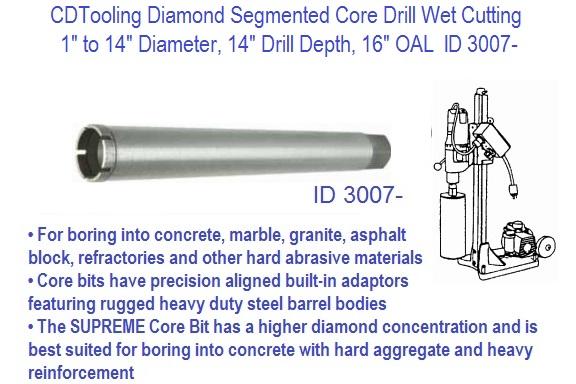 and Concrete 1//2 Chuck Arbor 2 Drilling Depth 1-1//8 Diamond Masonry Core Bits for Granite Marble