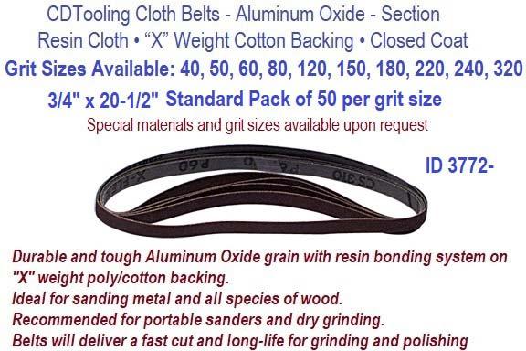 "5 pak 1//4/"" x 9/"" 50 grit spiral bands"