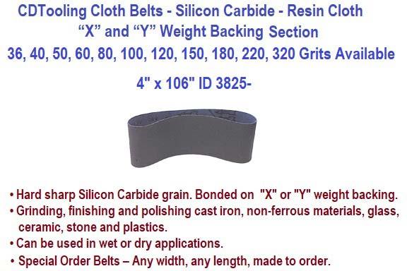 """10 belts per box 4/"""" x 106/"""" Wet  Abrasive Belts"""