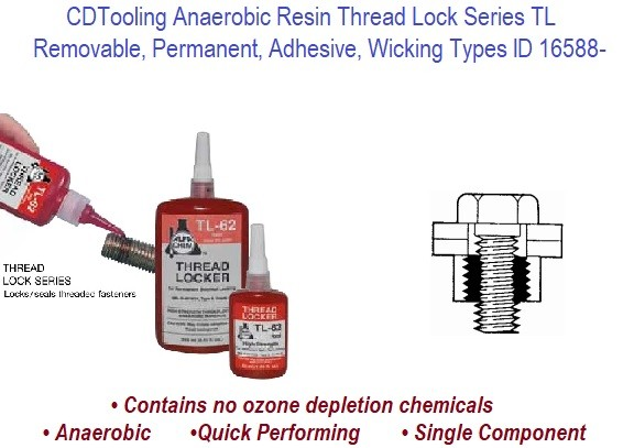 Thread Lock TL Series Anaerobic Adhesive Thread Lock Compare to Loctite ID 16588-