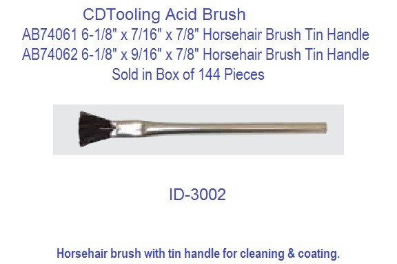 Acid Horsehair Brush with Tin Handle Pack of 144 ID 3002-