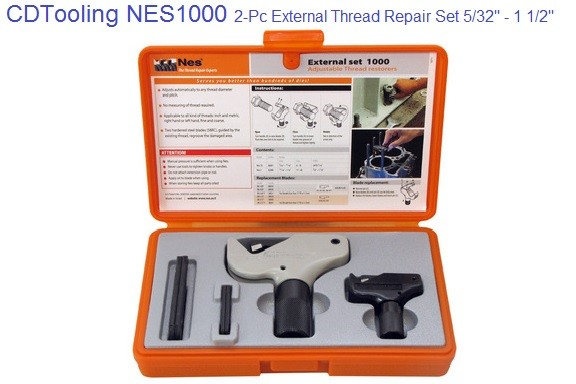 External Thread Repair Set 5/32 - 1 1/2 Inch M8-M20 Metric Size Range ID 2163-NES1000