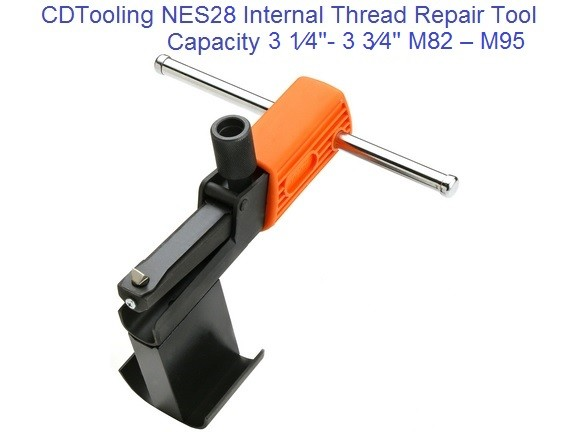NES28 Internal Thread Repair Tool 3-1/4 to 3-3/4 Inch,  M82 to M95 Metric ID 2181-