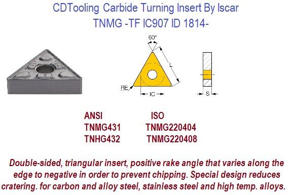 30pcs ISCAR DNMG441-TF IC907  DNMG150604-TF IC907 Carbird Inserts