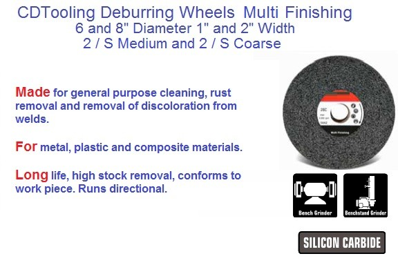 Deburring Finnish Multi Finishing 2/S Coarse, 2/S Medium 6 and 8