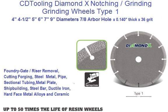 Diamond X - Type 1 Flat Cutting and Grinding Wheels, 4