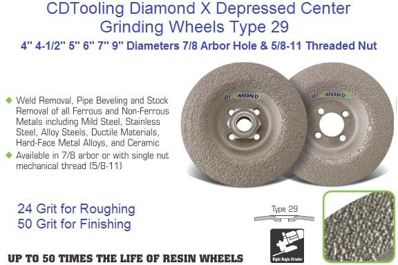 Diamond X Type 29 Depressed Center Grinding Wheels 4