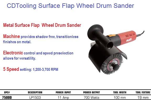 Drum Sander Metal Surface Flap Wheel 5 Speed Setting
