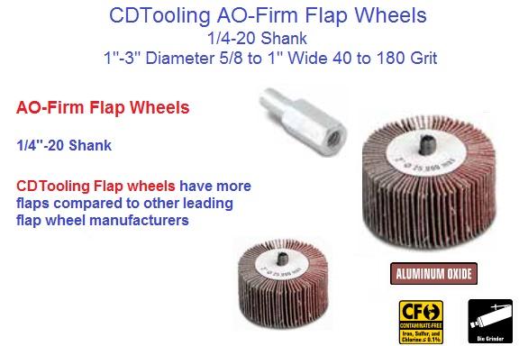 "50 Pack A//O 40 Grit Sanding 1-1//2/"" x 1/"" x 1//4/"" Shank Mounted Flap Wheels"