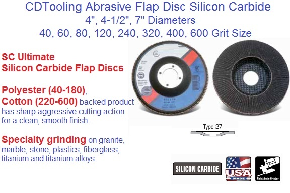 "Type 29 DD Flap Discs Zirconia Abrasive 4-1//2/"" x 7//8/"" 5 Pack 40 Grit"