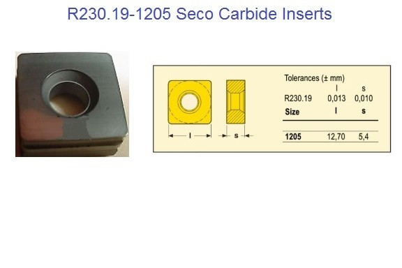 R230.19-1205- Carbide Inserts for Seco Cutter R230-19