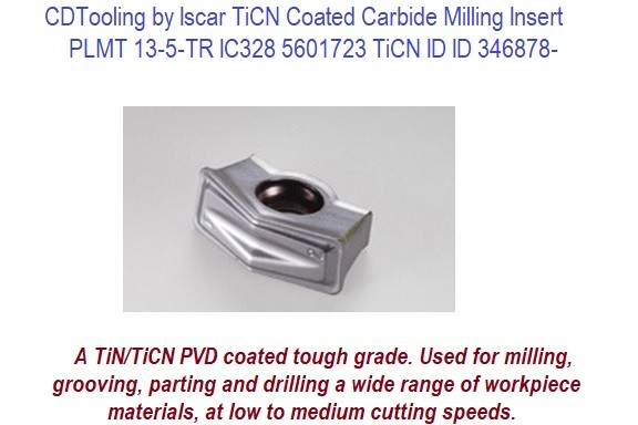 Iscar TiCN Coated Carbide Milling Insert 10 Pack ID 346878-PLMT 13-5-TR IC328 5601723