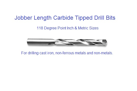 "Carbide Tipped Jobber Length Drill .1770/"" Size 16"