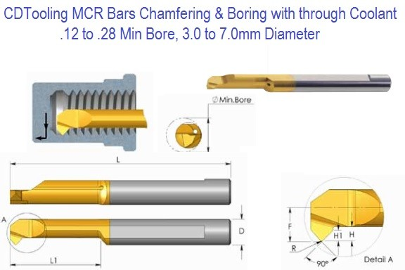MCR Bars Carbide Chamfering and Boring with through Coolant