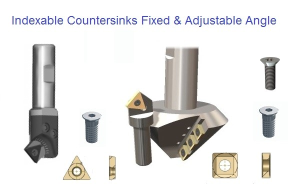 Indexable Carbide Countersinks 60 82 90 Degree and Adjustable Angle ID 1112-