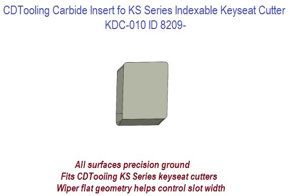 KDC-010 Carbide Inserts for KS Series Indexable Keyseat Cutters ID 8209-