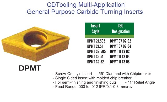 DPMT 21.5,32.5,0702,11T304 C520,C550,CM02,CM14 Carbide insert Multi Application General Purpose