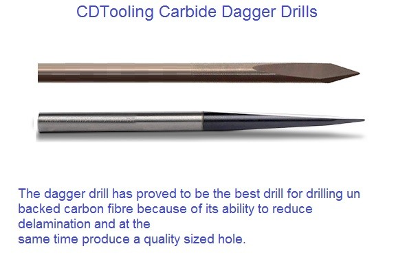 Carbide Dagger Drill DLC Coated .098  to .251 Diameter ID 2158-