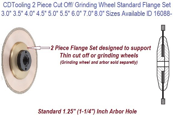 Standard Flanges Designed to Support thin Cut off CBN or Diamond Cut off Wheels ID 10688-