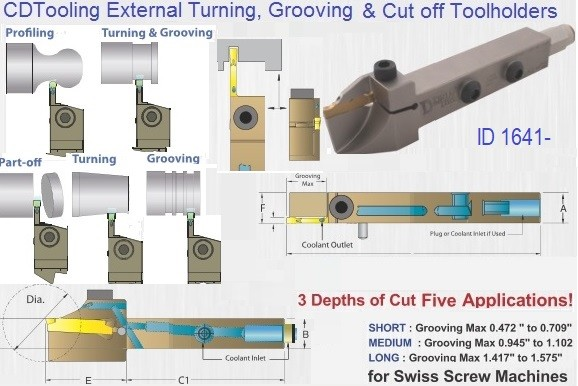 External Turning Grooving and Cut Off Tool holders Jet Stream ADDN-TFR/L- ID 1641-