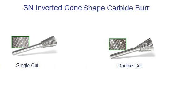 SN - Inverted Cone Shape Carbide Burr ID 1689-