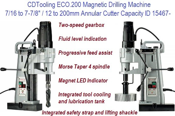 Magnetic Drilling Machine  0 .437 7/16 to 7-7/8