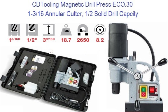 ECO.30 Magnetic Drill 1-3/16 Annular Capacity, 1/2 Drill Bit Compact and Powerful Series 2652