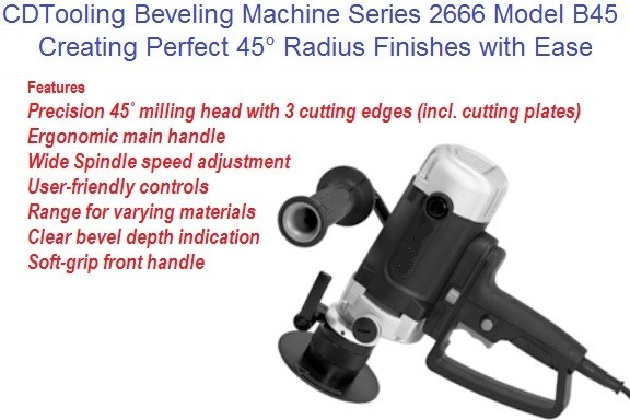 B45 Portable Beveling Machine Machine 45 Degree Milling Head Series 2666-