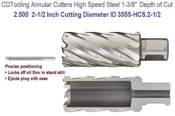 """ACTOOL 1/"""" Diameter × 2/"""" Depth of Cut HSS ANNULAR Cutter"""