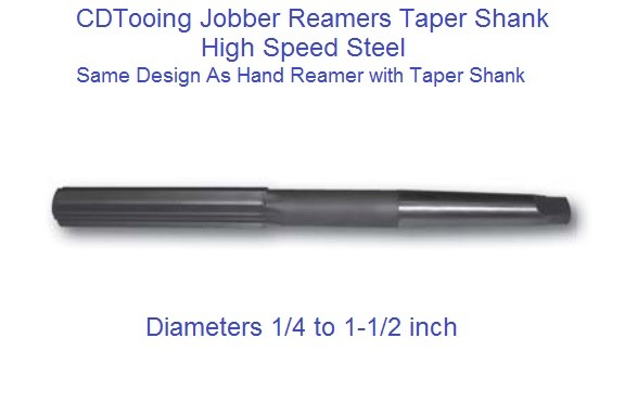 Jobber Reamers High Speed Steel Taper Shank 1/4 to 1-1/2