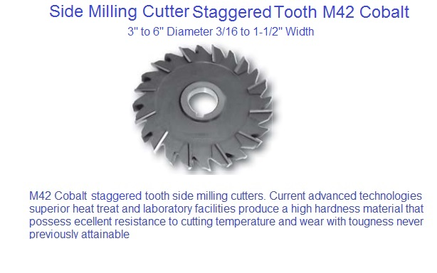 5 Diameter 1 Hole Size 11//16 Width of Face F/&D Tool Company 11184-A7522 Staggered Tooth Side Milling Cutter High Speed Steel