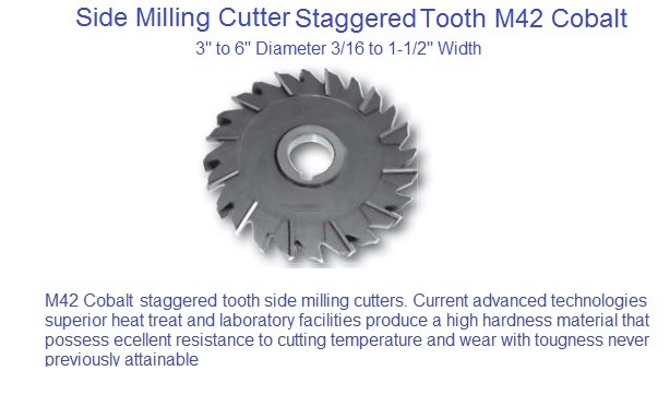 Milling Cutter Straggared Tooth Side Milling Cutter M42 Cobalt 3