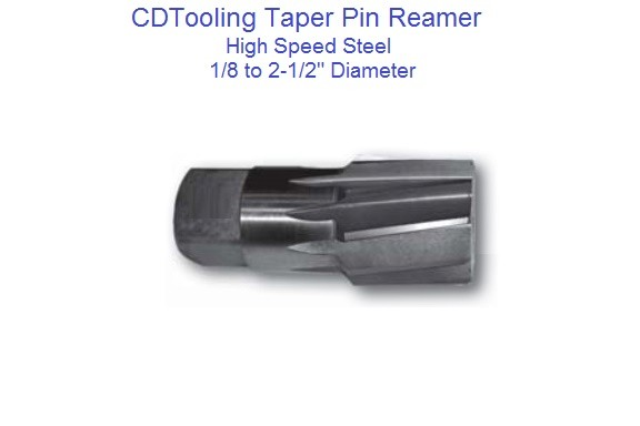 Taper Pipe Reamer HSS 1/8, 1/4, 3/8, 1/2, 3/4, 1, 1-1/4, 1-1/2, 2, 2-1/2 Diameter